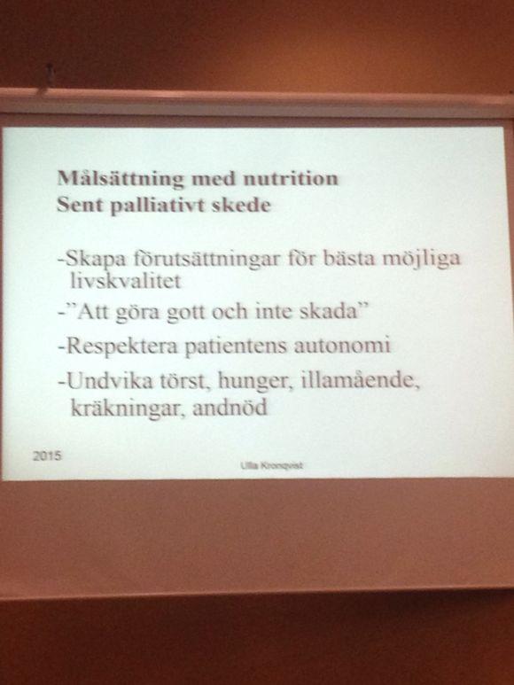 Nutrition vid palliativ vård